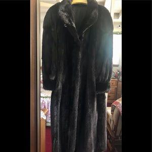 Jackets & Blazers - Full length Black Mink Coat